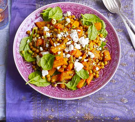 Minty carrot, pistachio & feta salad