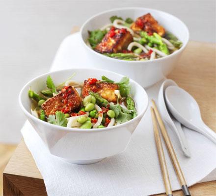 Japanese tofu noodle bowl