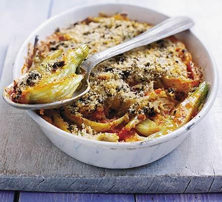 Fennel & tomato gratin