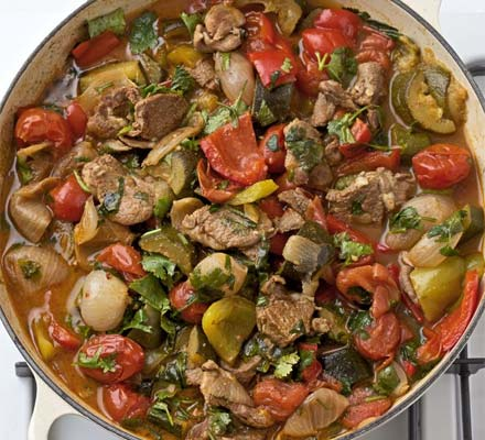 Mediterranean vegetables with lamb