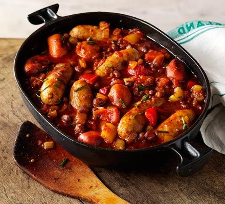 Sausage & bean casserole