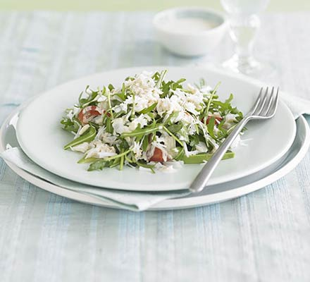 Crab, avocado & rocket salad