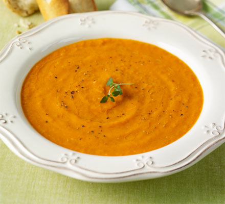 Roasted tomato & mascarpone soup