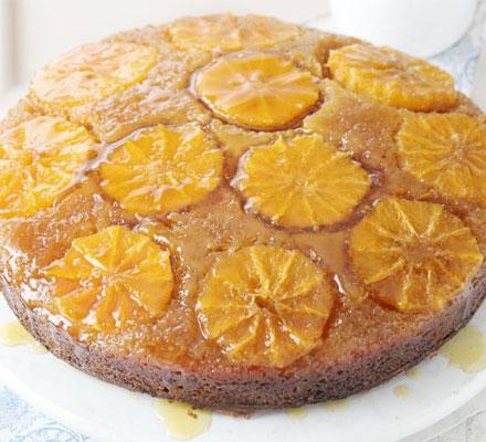 Sticky citrus sponge cake