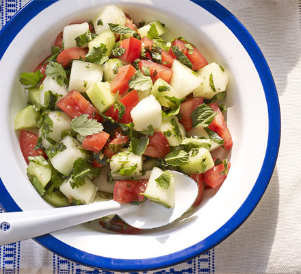 Tomato & melon salad