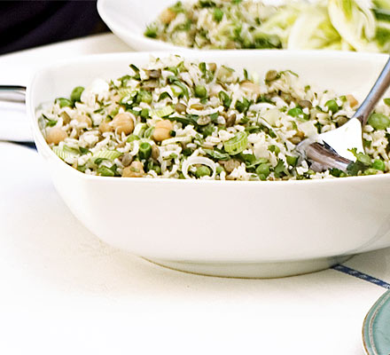 Lemony rice & peas