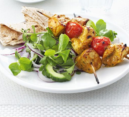 Chicken tikka skewers
