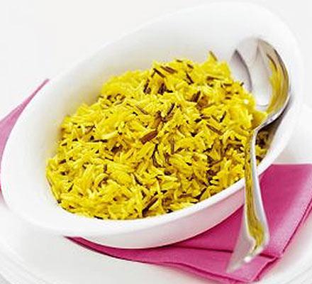 Saffron wild rice