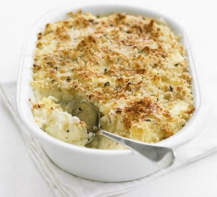 Garlic mash potato bake