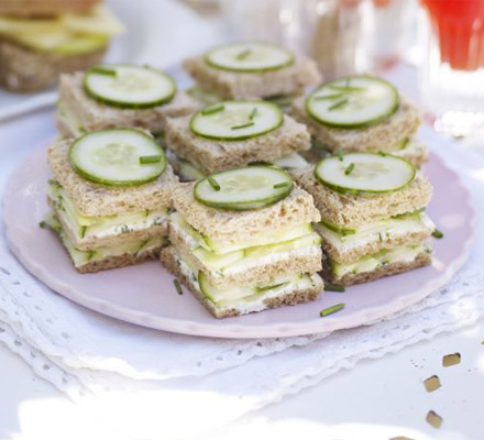 Cucumber & herb triple-deckers