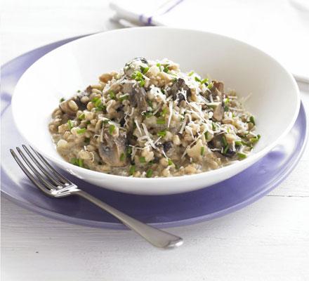 Spelt & wild mushroom risotto