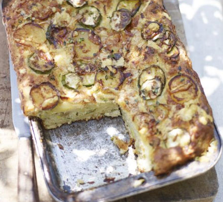 Courgette, potato & cheddar bread
