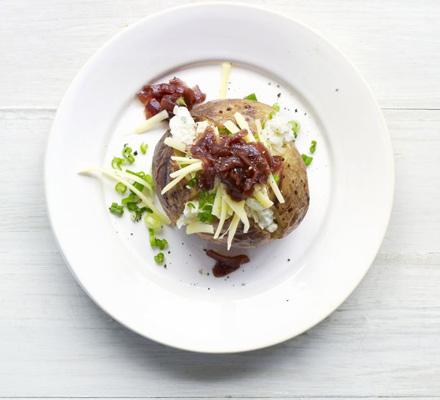 Three cheese & onion jacket potato topper
