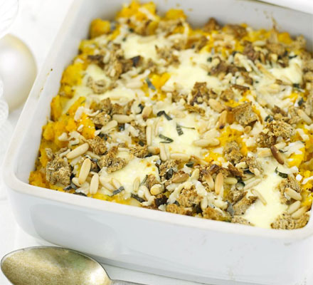 Sweet potato & parsnip bake