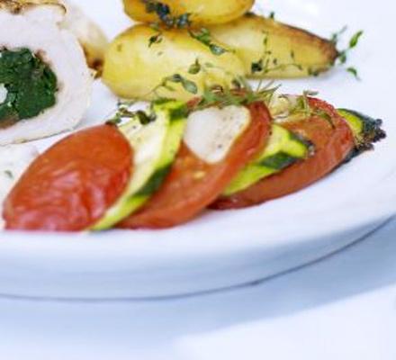 Courgette & tomato tians