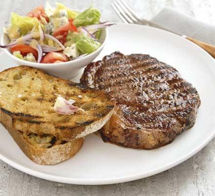 Steak sandwich on a plate