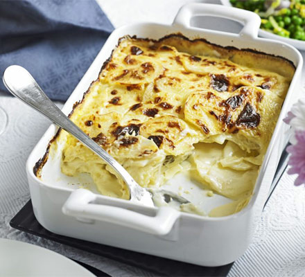 Horseradish potato dauphinoise
