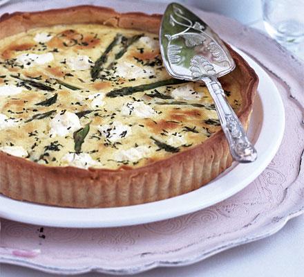 Asparagus, lemon & ricotta tart