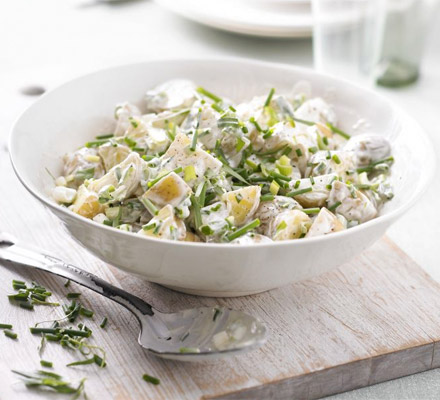 Healthier potato salad