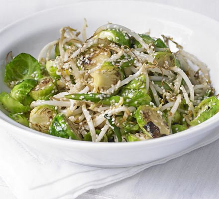 Sprouts with sesame & spring onions