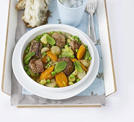 Minted lamb & pea stew
