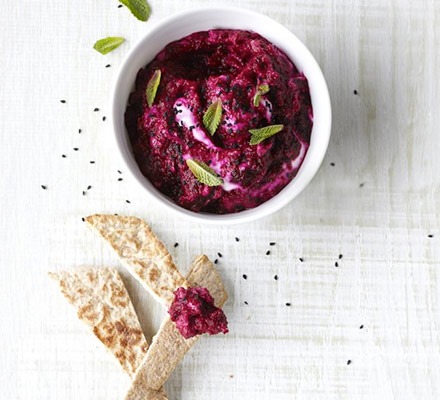 Beetroot & mint dip