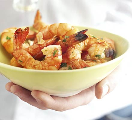 Garlicky prawns with sherry