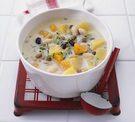 Hearty winter veg soup