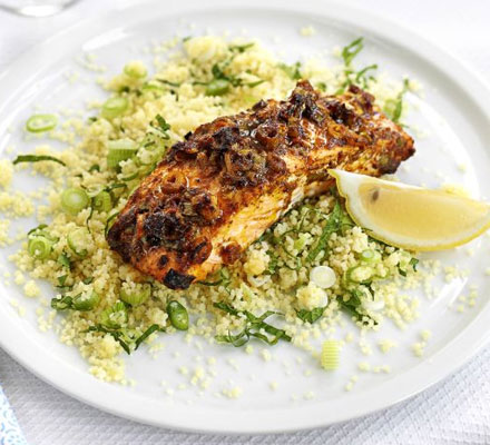 Spice & honey salmon with couscous