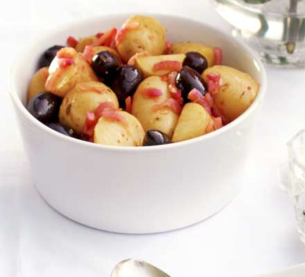 Potato, red onion & olive salad