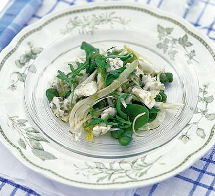 Fennel, broad bean & blue cheese salad