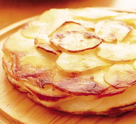 Buttery potato cake