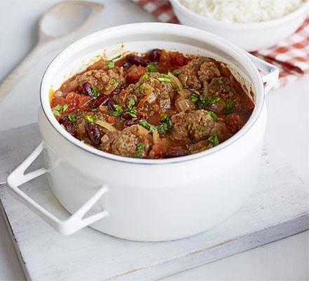 Smoky Mexican meatball stew