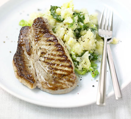 Pork with swede colcannon
