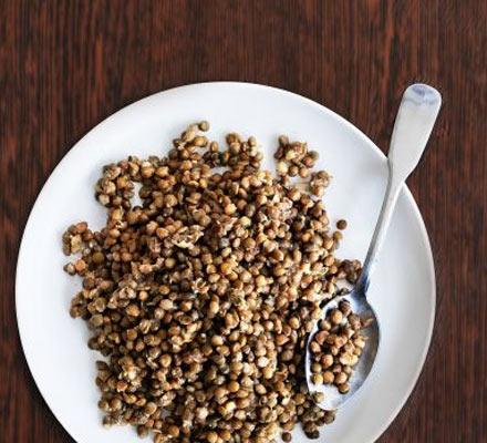 Rosemary & garlicky lentils