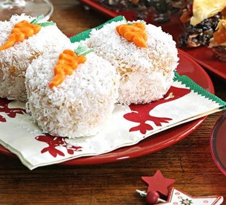 Rudolph's snowball carrot muffins