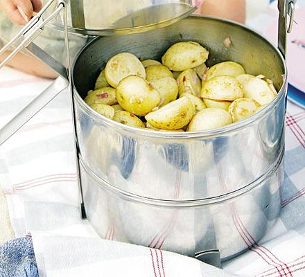 Potato salad with sweet onion dressing