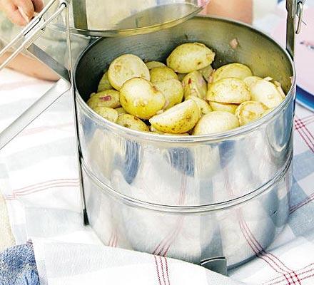 Potato salad with sweet onion dressing