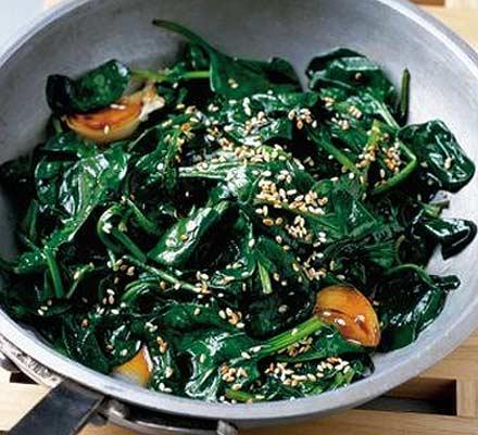 Speedy soy spinach