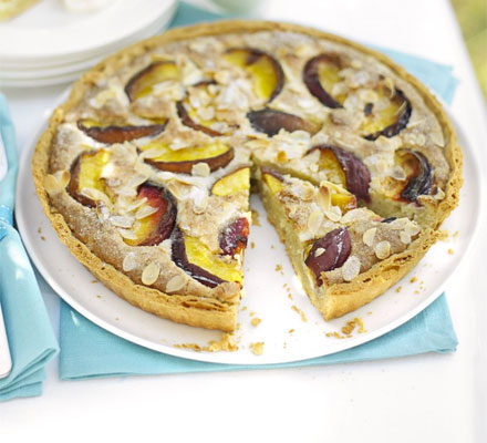 Peach & almond tart