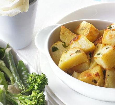 Oregano & lemon roasties