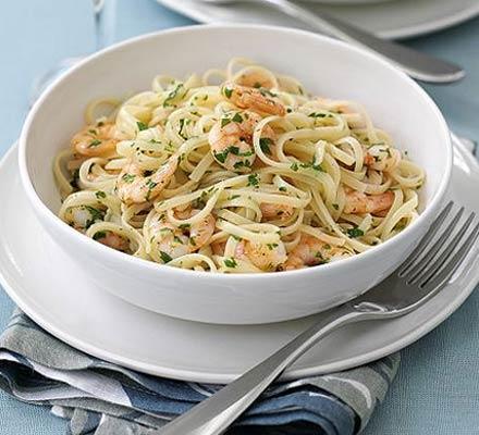 Special prawn pasta
