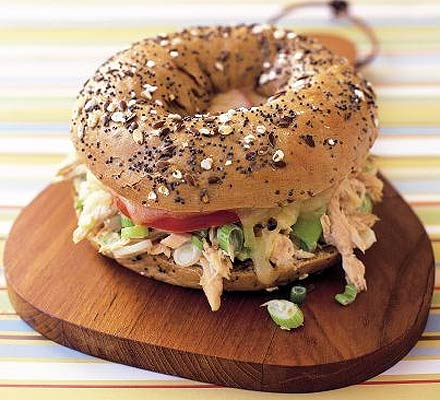 Seeded bagel tuna melt