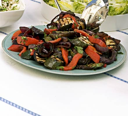 Grilled & marinated summer vegetables