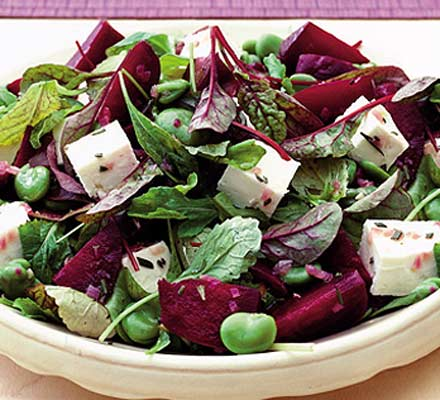 Beetroot, bean & feta salad