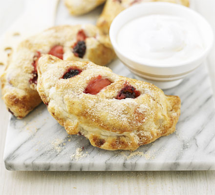 Blackberry & apple pasties