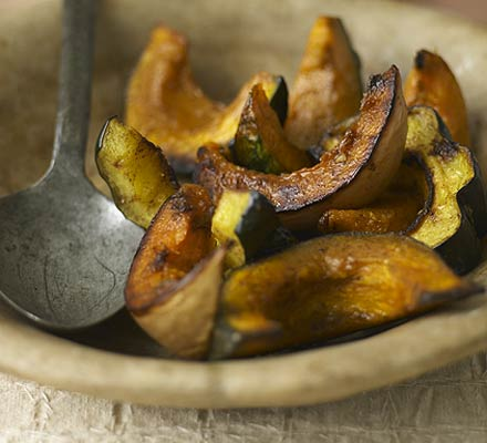 Spiced glazed squash