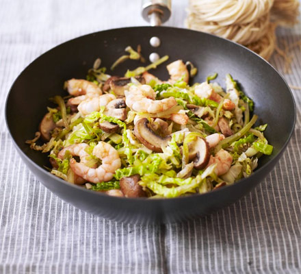 Prawn & mushroom five-spice stir-fry