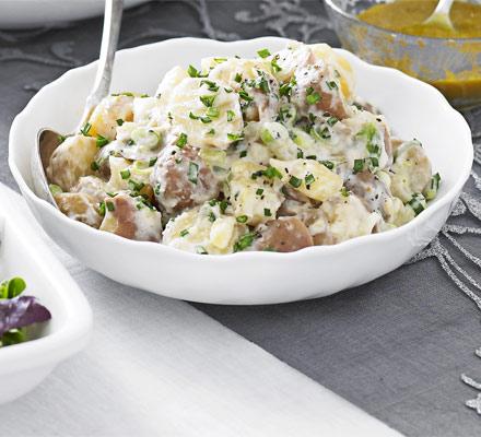Red potatoes with horseradish & crème fraîche