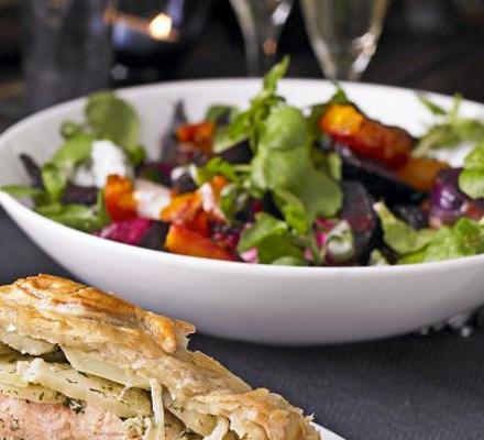 Beetroot & squash salad with horseradish cream